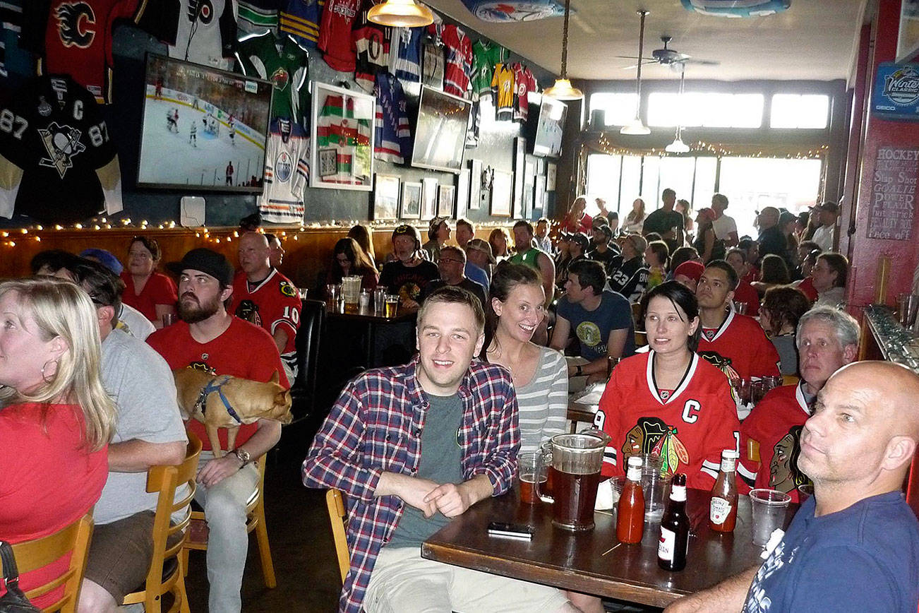 Seattle hockey fans gather at The Angry Beaver. Photo courtesy The Angry Beaver