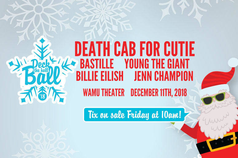 Death Cab for Cutie Headlines Deck the Hall Ball 2018