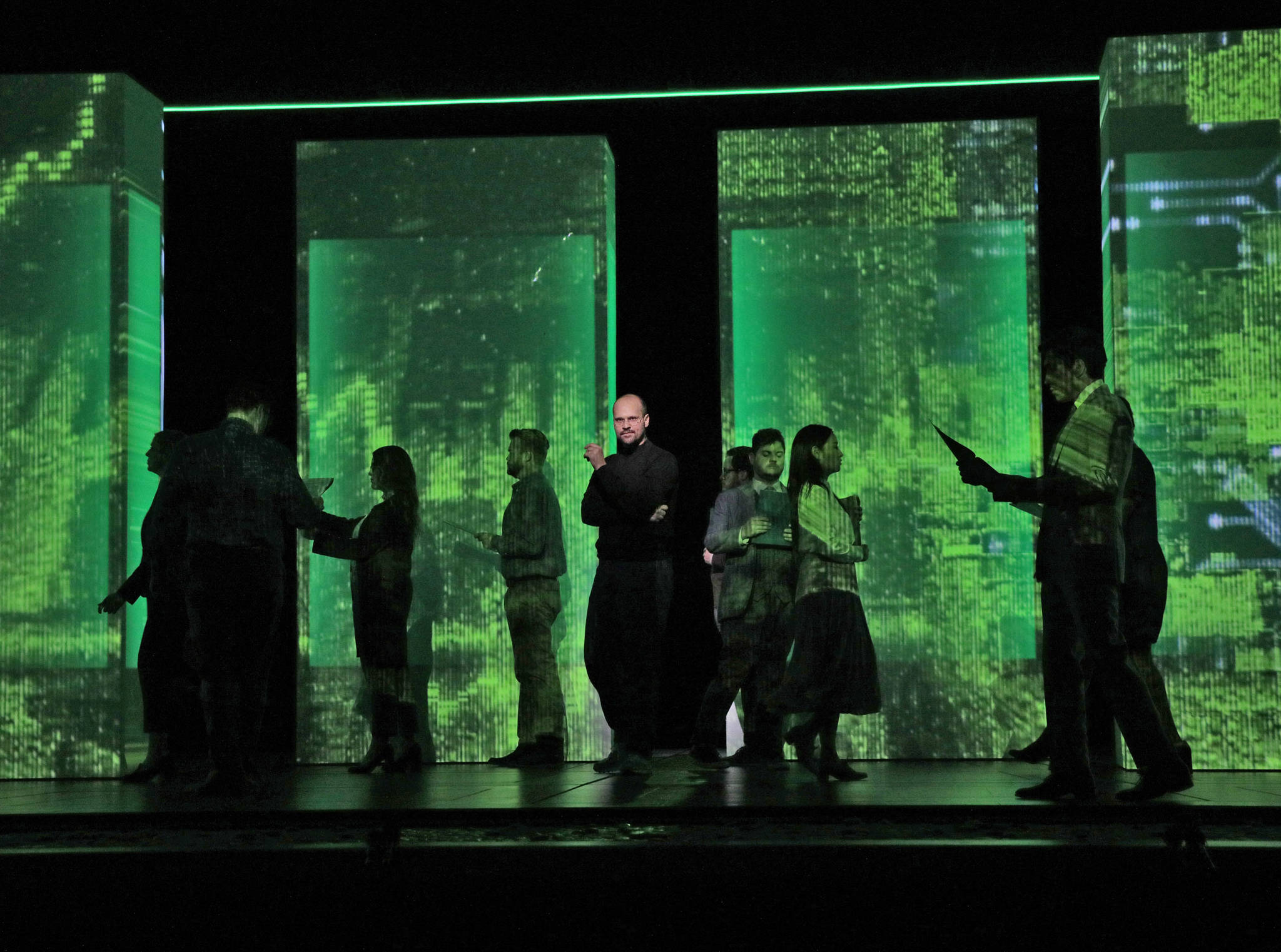Steve Jobs gets the operatic treatment in the Grammy-winning 'The (R)evolution of Steve Jobs.' Photo by Ken Howard