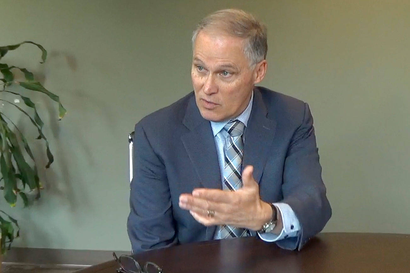 Gov. Jay Inslee talks about homelessness and the climate