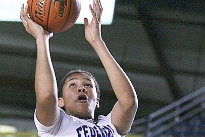 Talia Walton in high school playing for Federal Way in the state championships. File photo